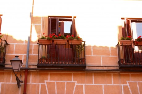 madrid balcony in the old town
